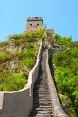 Famous Great wall near Beijing, China