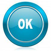 ok blue icon