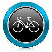 bicycle glossy icon bike sign