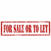 For Sale Or To Let-stamp