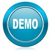 demo blue icon
