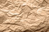 Light Brown Texture Of Crumpled Paper