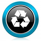 recycle glossy icon recycling sign