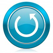 rotate blue icon reload sign