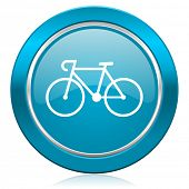 bicycle blue icon bike sign