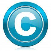 copyright blue icon