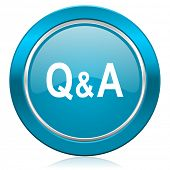 question answer blue icon
