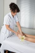 stock photo of foot massage  - Foot massage - JPG