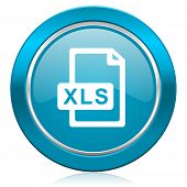 xls file blue icon