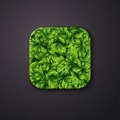 Leaves texture icon stylized like mobile app. Vector illustratio