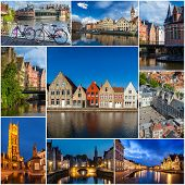 pic of storyboard  - Mosaic collage storyboard of Belgium tourist views travel images - JPG