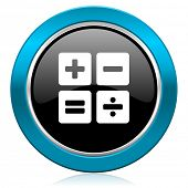 calculator glossy icon calc sign