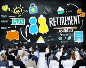 Business People Employee Retirement Presentation Seminar Concept
