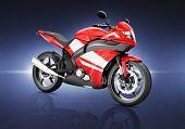 Motorcycle Land Vehicle Transportation Luxury Motorbike Elegance Concept