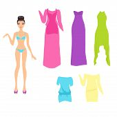 Dress Up Doll With An Assortment Of Summer Dresses