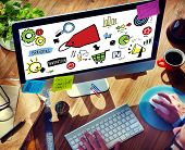 Businessman Branding Marketing Strategy Digital Devices Concept