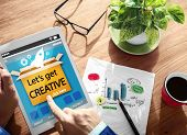 Let's Get Creative Way Forward Thinking Concept