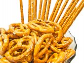Tasty Salted Pretzels And Breadsticks