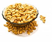 Glass Dish With Yummy Peanuts