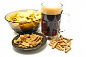 Snacks And Dark Beer