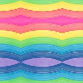 Watercolor rainbow pattern.