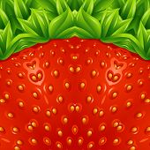 Optical strawberry background pattern. Vector illustration.