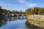View Of The Tiber River, Rome