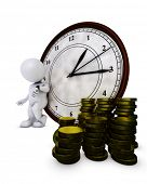 3D Render of Morph Man time is money