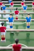 Close Up Of Players In Table Football Team