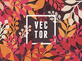 Vector Abstract Background With Leaves
