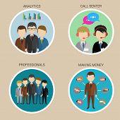 Variety Human Resource Icons, vector
