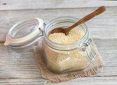 Millet In A Glass Jar