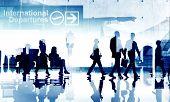 Business People Travel Departure Aiport Passenger Terminal Concept