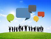 Business people Outdoors Celebrating Success Team Teamwork Concept