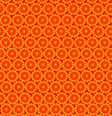 Wall-papers With Abstract Yellow Patterns On The Orange