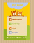 Advertise store for pets. Icons for pet shop