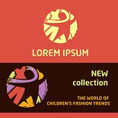 Shop children's clothing  for boys and girls. Visual communication.Logo for baby clothes