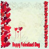 Greeting Card For St. Valentine's Day.