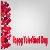 Hearts And Congratulations Happy Valentine's Day.