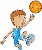 Basketball Player Vector Illustration Art