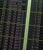Departure Board In Airport