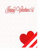 Happy Valentine's Letter With Heart