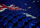 Australian background theme - 3D render