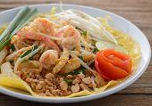 Pad Thai. Thai Style Noodles