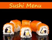 Delicious rolls isolated on black with space for your text