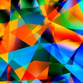 Abstract colorful triangle pattern background. Multicolored polygonal mosaic. Graphic art design.