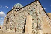 Mausoleum of Khoja Ahmed Yasavi in Turkistan, Kazakhstan.