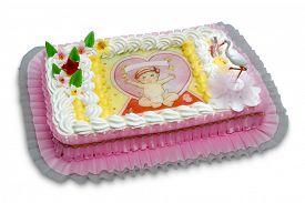 stock photo of christening  - christening cake - JPG