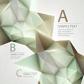 image of triangular pyramids  - Low poly triangular background - JPG