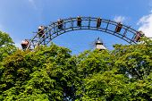 foto of ferris-wheel  - one of the landmarks of vienna in austria is the ferris wheel in the prater - JPG